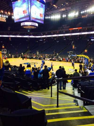 Oracle Arena, section: 125, row: 12, seat: 1