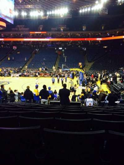 Oracle Arena, section: 127, row: 15, seat: 8