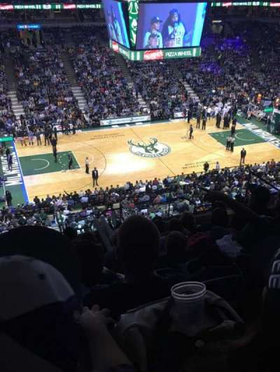 BMO Harris Bradley Center, section: 424, row: M, seat: 6