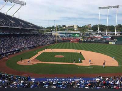Kauffman Stadium, section: 315, row: B, seat: 7