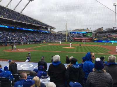 Kauffman Stadium, section: 134, row: H, seat: 4