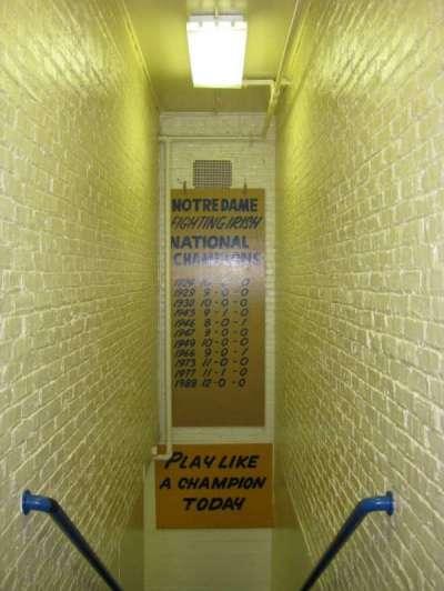 Notre Dame Stadium section Locker Room