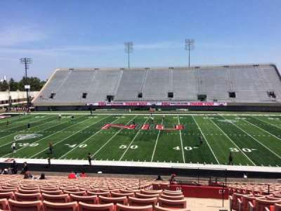 Huskie Stadium, section: D, row: 25, seat: 1