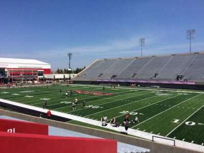 Huskie Stadium, section: A, row: 17, seat: 16