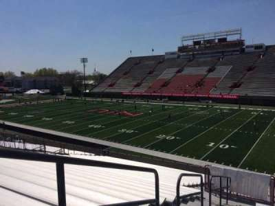 Huskie Stadium, section: I, row: 29, seat: 18