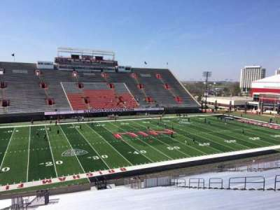 Huskie Stadium, section: O, row: 42, seat: 20
