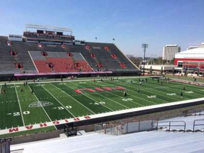 Huskie Stadium, section: O, row: 25, seat: 14