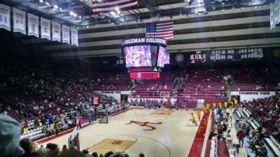 Coleman Coliseum, section: J, row: 21, seat: 2