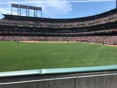 AT&T Park, section: 138, row: 1, seat: 20