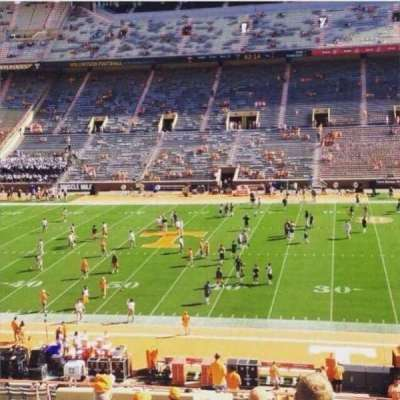Neyland Stadium, section: S, row: 45, seat: 21-22