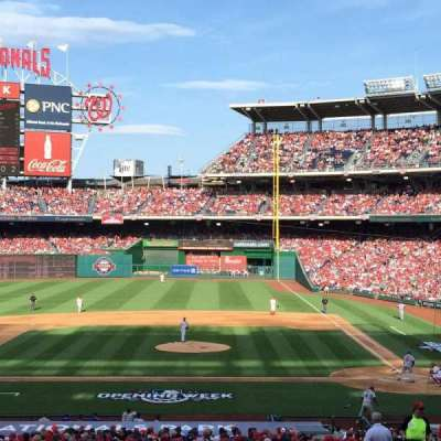 Nationals Park, section: 117, row: TT, seat: 6
