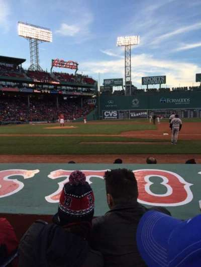 Fenway Park, section: Field Box 26, row: E, seat: 4