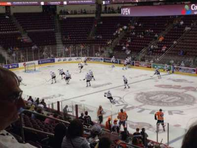Giant Center, section: 122, row: W, seat: 11