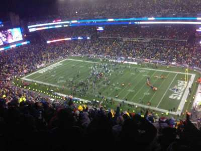 Gillette Stadium, section: 305, row: 25, seat: 5