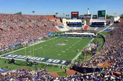 Los Angeles Memorial Coliseum, section: 13H, row: 72, seat: 112