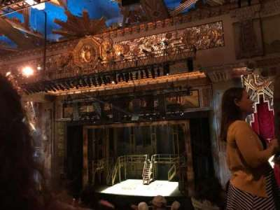 Pantages Theatre (Hollywood), section: MEZZRC, row: F, seat: 213