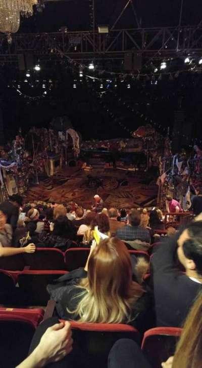 Neil Simon Theatre, section: Mezzanine, row: O, seat: 124