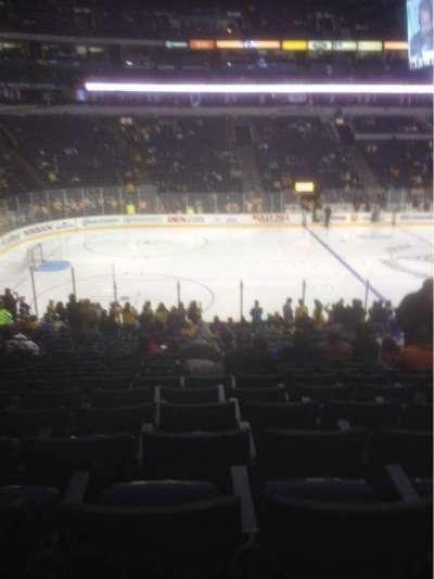 Bridgestone Arena, section: 104, row: M, seat: 8
