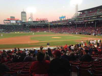Fenway Park, section: Loge Box 149, row: LL, seat: 1