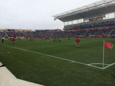 Toyota Park, section: 102, row: 1, seat: 1