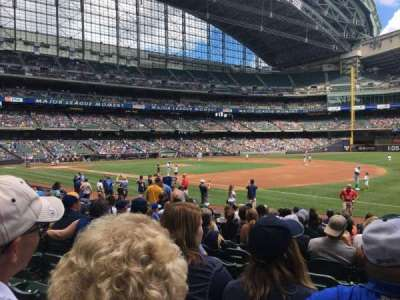 Miller Park, section: 110, row: 15, seat: 13