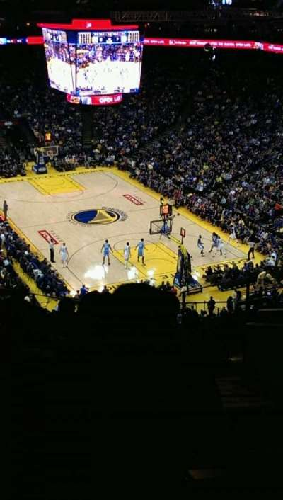 Oracle Arena, section: 227, row: 10, seat: 1