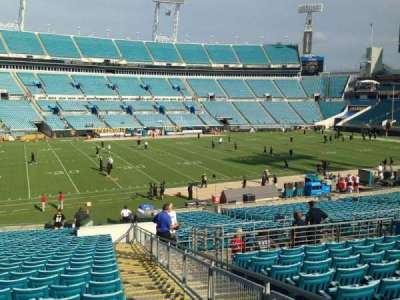 TIAA Bank Field, section: 113, row: Ee, seat: 1