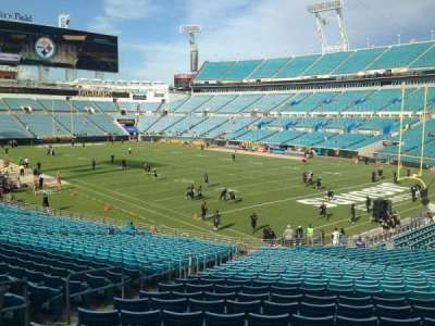 TIAA Bank Field, section: 102, row: FF, seat: 17