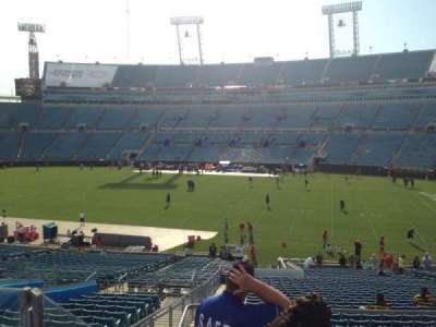 EverBank Field, section: 232, row: A, seat: 9