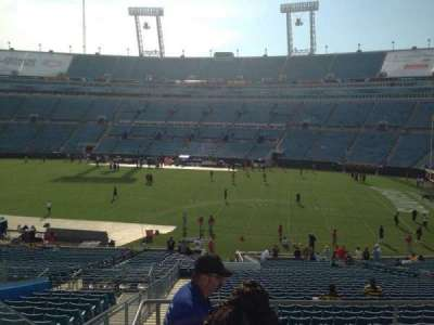 EverBank Field, section: 231, row: A, seat: 20