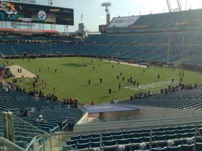 EverBank Field, section: 225, row: F, seat: 7