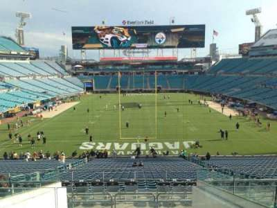 TIAA Bank Field, section: 223, row: H, seat: 12