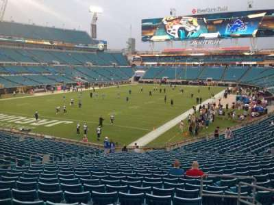 EverBank Field, section: 119, row: CC, seat: 4