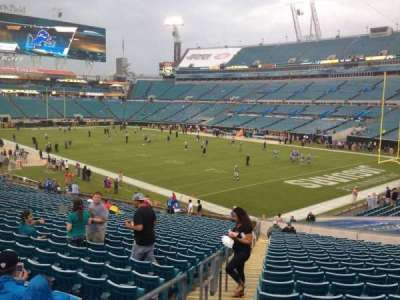 EverBank Field, section: 128, row: EE, seat: 19