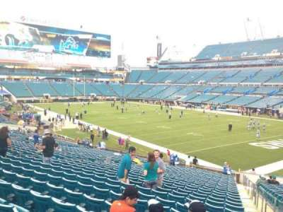EverBank Field, section: 130, row: EE, seat: 1