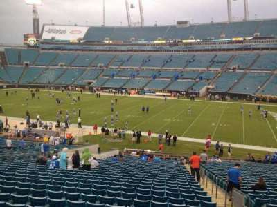 EverBank Field, section: 133, row: GG, seat: 1