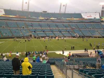 TIAA Bank Field, section: 140, row: FF, seat: 1