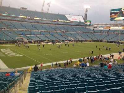 EverBank Field, section: 143, row: EE, seat: 21