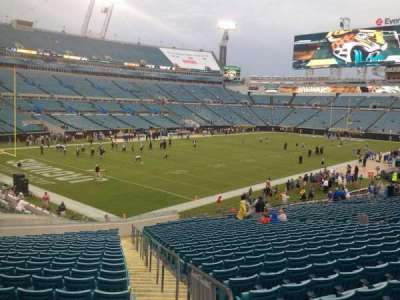 EverBank Field, section: 144, row: FF, seat: 1