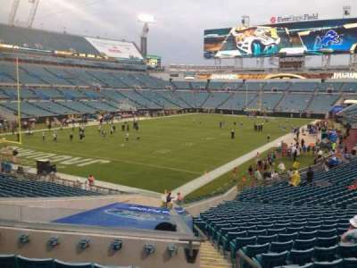 EverBank Field, section: 145, row: FF, seat: 1