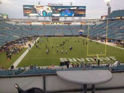 EverBank Field, section: 149, seat: 16