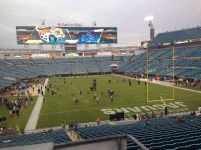 EverBank Field, section: 150, seat: 17