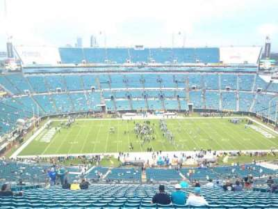 EverBank Field, section: 437, row: BB, seat: 15