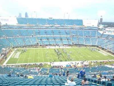 EverBank Field, section: 438, row: BB, seat: 8