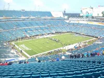 TIAA Bank Field, section: 443, row: EE, seat: 14