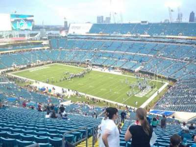 EverBank Field, section: 431, row: EE, seat: 18