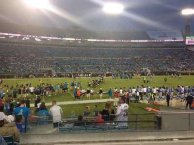 EverBank Field, section: 140, row: L, seat: 12