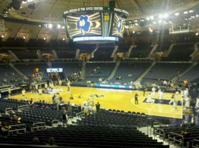 Joyce Center, section: 109, row: 4, seat: 5