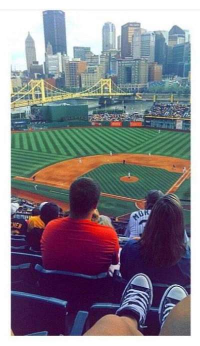 PNC Park, section: 319, row: P, seat: 1