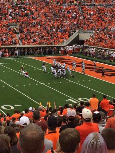 Boone Pickens Stadium, section: 224, row: 21, seat: 42